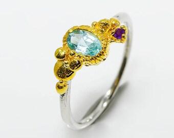Ocean Inspired Ring Etsy