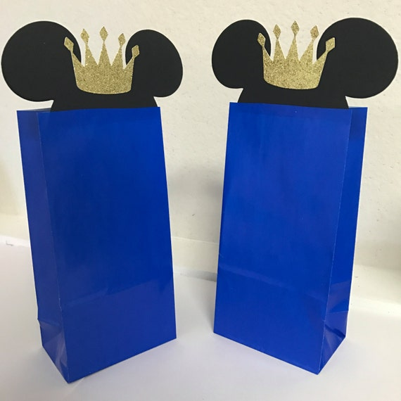 Prince Mickey Mouse Royal Loot Favor Goodie Bags Birthday Etsy