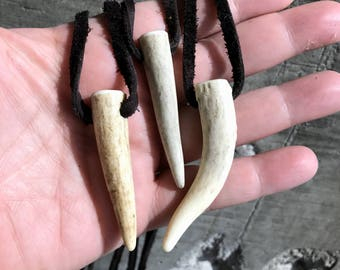 Deer Antler Totem Necklace