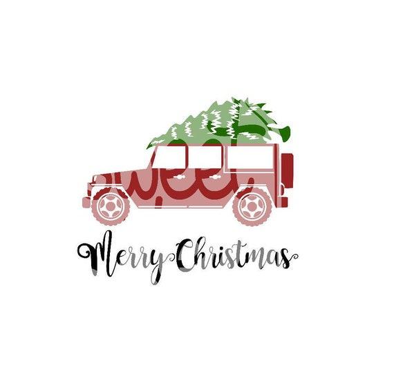 Christmas Jeep Silhouette.Cricut Cut Files Silhouette Christmas Truck Svg Truck Svg Christmas Svg Christmas Shirt Jeep Svg Christmas Tree Svg Farm Fresh Svg