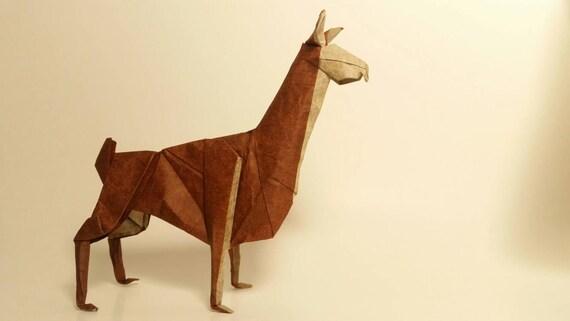 Origami Llama Etsy