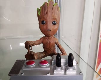 Baby Groot with Control panel - 3d Print