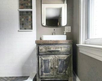 Rustic Bathroom Vanity Etsy
