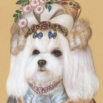 Maltese. The Beauty / Dog Art Print / Royal Dog Art Gallery of Animal Century