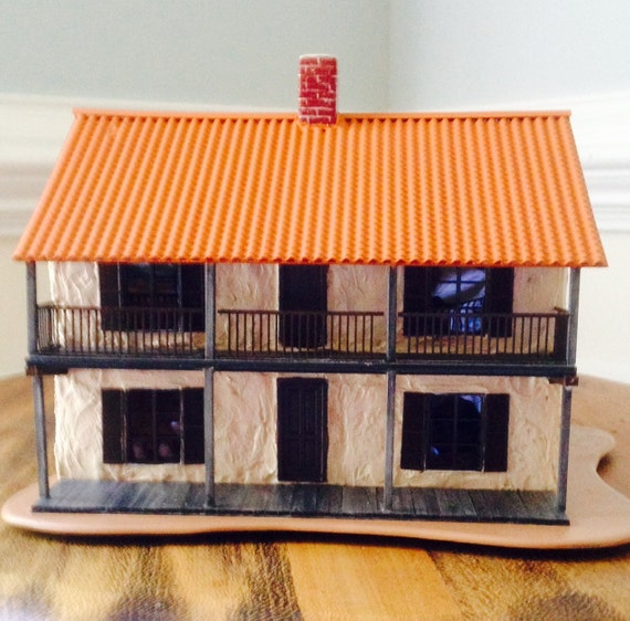 Miniature Monterey House O Scale 14 Scale Circa 1840 Alta Californiamodel Railroadminiature Collectibletabletop Display