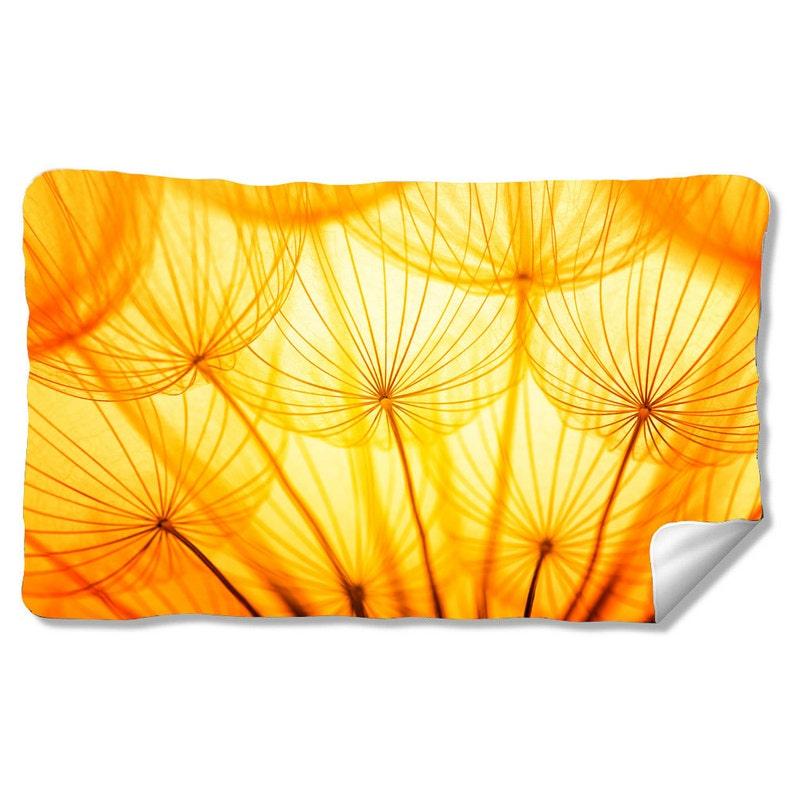 Dandelion Velveteen Fleece Blanket