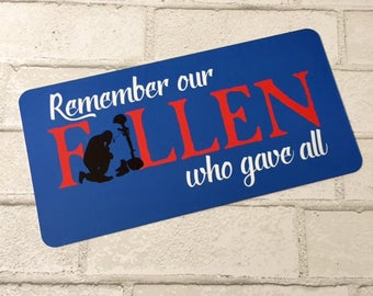 Remember the Fallen - Memorial Day Sign - Wreath Sign - Aluminum Sign - Wreath Attachment