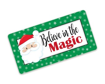 Believe In The Magic Santa Christmas Sign For Wreaths