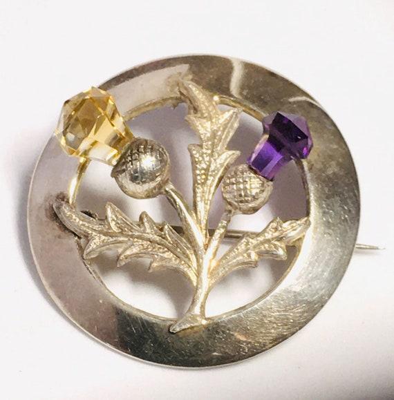 KO/602. Vintage Scottish thistle brooch made in Ab