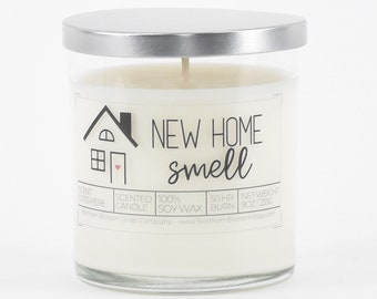 Funny Housewarming Gift, New Home Smell Custom Soy Candle, First Home Gift, New Home Gift, New House Gift, Closing Gift from Realtor