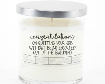 Goodbye Gift for Friend, Funny Goodbye Gift for Coworker, Gift for Best Friend, Moving Away Gift, Going Away Gift, Funny Personalized Candle