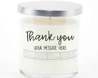 Thank You Custom Soy Candle