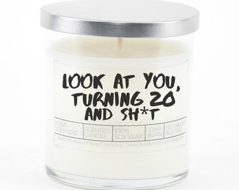 20th Birthday Soy Candle
