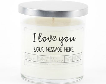 I Love You Personalized Soy Candle