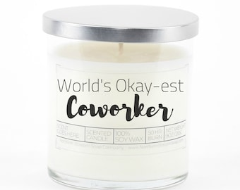 World's Okay-est Coworker Soy Candle