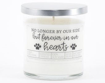 No Longer By Our Side But Forever In Our Hearts Soy Candle