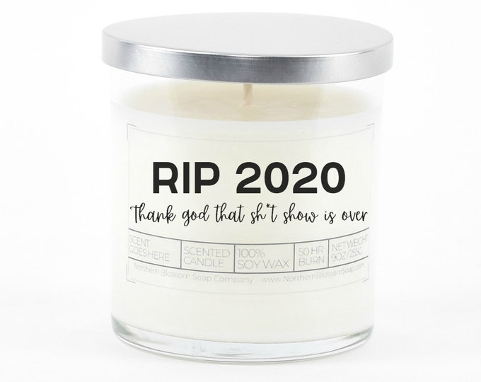 Funny New Years Candle, Funny New Years Gift Idea, Happy New Year, Funny Candle, Personalized Gift for Coworkers or Boss