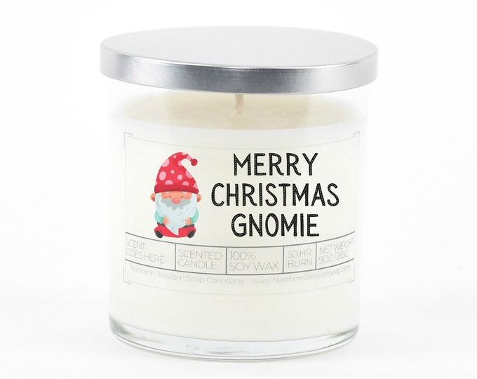 Merry Christmas Gnomie Christmas Gift, Funny Gnome Christmas Decor, Best Friend Gift, Coworker Secret Santa, Personalized Stocking Stuffer