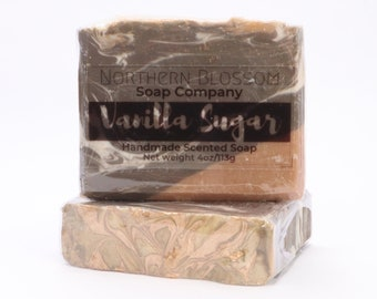 Handmade Soap, Vanilla Sugar Soap, Gift for Her Under 10 Dollars, Best Friend Gift, Birthday Gift, Spa Gift Idea,Cold Process Homemade Soap