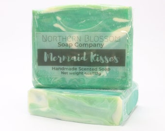 Handmade Soap, Mermaid Kisses, Mother's Day Gift, Gift for Her, Spa Gift for Relaxation, Mermaid Gift Idea, Party Favors, Decorative Soap