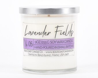 Lavender Fields Scented Soy Candle, Birthday Gift for Her, Mother's Day Gift, Scented Candle Gift, Jar Candle, Housewarming Gift