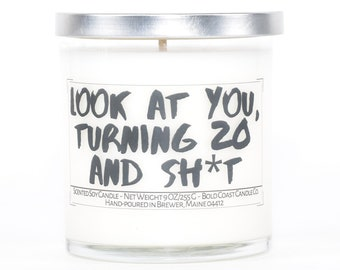 20th Birthday Soy Candle, Funny Birthday Gift, Birthday Gift for Her, Personalized Gift,Sister Gift,Best Friend Gift,Funny Gift for Coworker