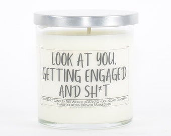 Engagement Gift, Funny Candle Gift for Her, Couples Gift, Gift for Sister, Future Mrs Gift, Bridal Shower Gift, Funny Gift for Best Friend