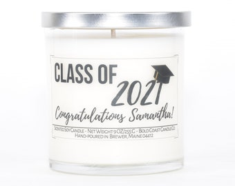 Class of 2021 Graduation Gift, Personalized Gift, Personalized Candles,College Student Gift,College Graduation Gift for Her,Best Friend Gift