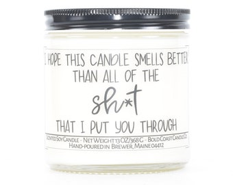 Funny Anniversary Gift For Her, Funny Candle, Custom Candle, Personalized Gift, Thank You Gift, Best Friend Gift, Gift for Husband