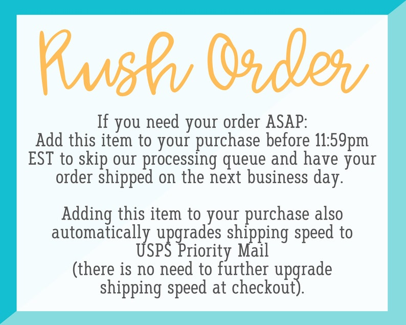 Rush My Order and Upgrade Shipping Speed Addon  Please Read image 0
