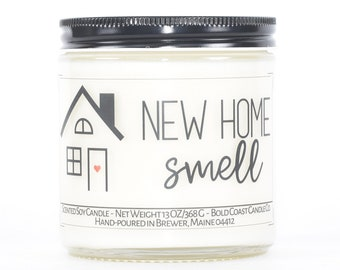 New Home Smell, Funny Housewarming Gift, Customizable Soy Candle, First Home Gift, New Home Gift, New House Gift, Closing Gift from Realtor