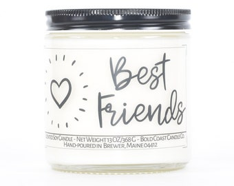 Best Friend Candle Gift, Personalized Birthday Gift, Custom Soy Candle, Best Friend Birthday Gift, Coworker Gift, Friendship Gift for Her