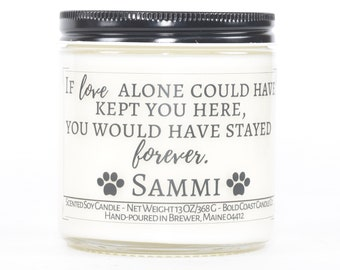 Custom Pet Memorial Candle, Pet Sympathy Gift, Personalized Dog Memorial Gift, Dog Loss Gift, Pet Loss Gifts, Pet Remembrance, Loss of Dog