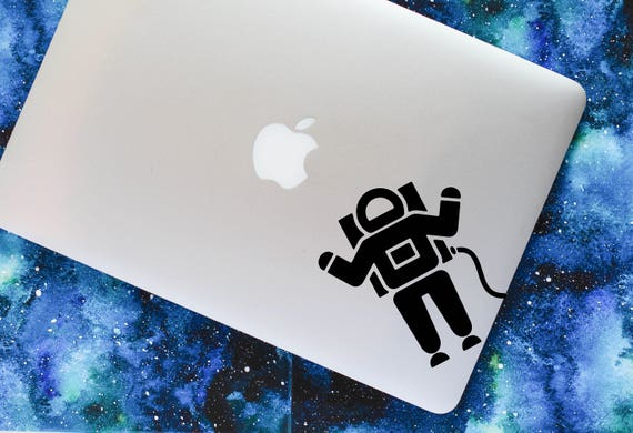 Astronaut Vinyl Decal Ufo Funny Outer Space Symbol Macbook Etsy