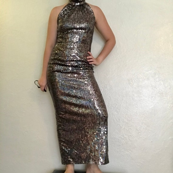 vintage formal sparkly dress! by adrianna papell e