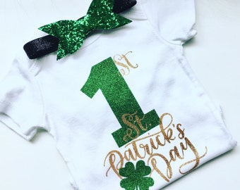 1st St. Patrick's Day, irish, brave, first St. Patrick's Day, Babies, baby girl, newborn, Miss March