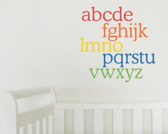 ALPHABET Wall Sticker, Removable Decal, Made In Australia