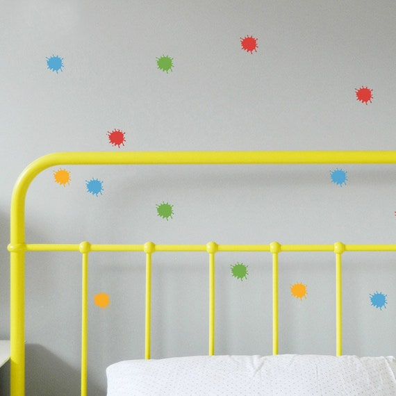paint splat wall stickers removable decal made in australia | etsy