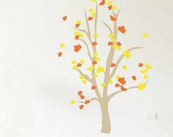 AUTUMN/SPRING TREE Wall Sticker, Removable Decal, Made In Australia