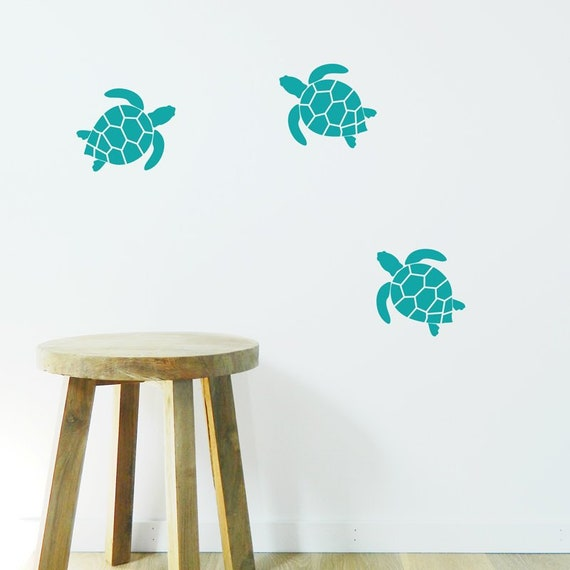 turtle wall stickers removable decal made in australia | etsy