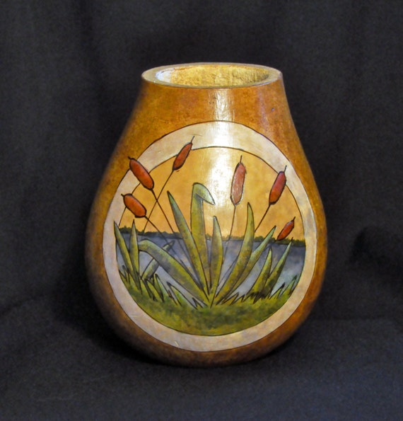 Handcrafted Vase Natural Gourd Vase Organic Container Etsy