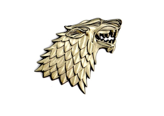 83ca7f7ece741 The House Stark Hat Pin Game of Thrones Cool Funny Hipster