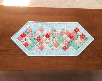 Quilted spring table runner