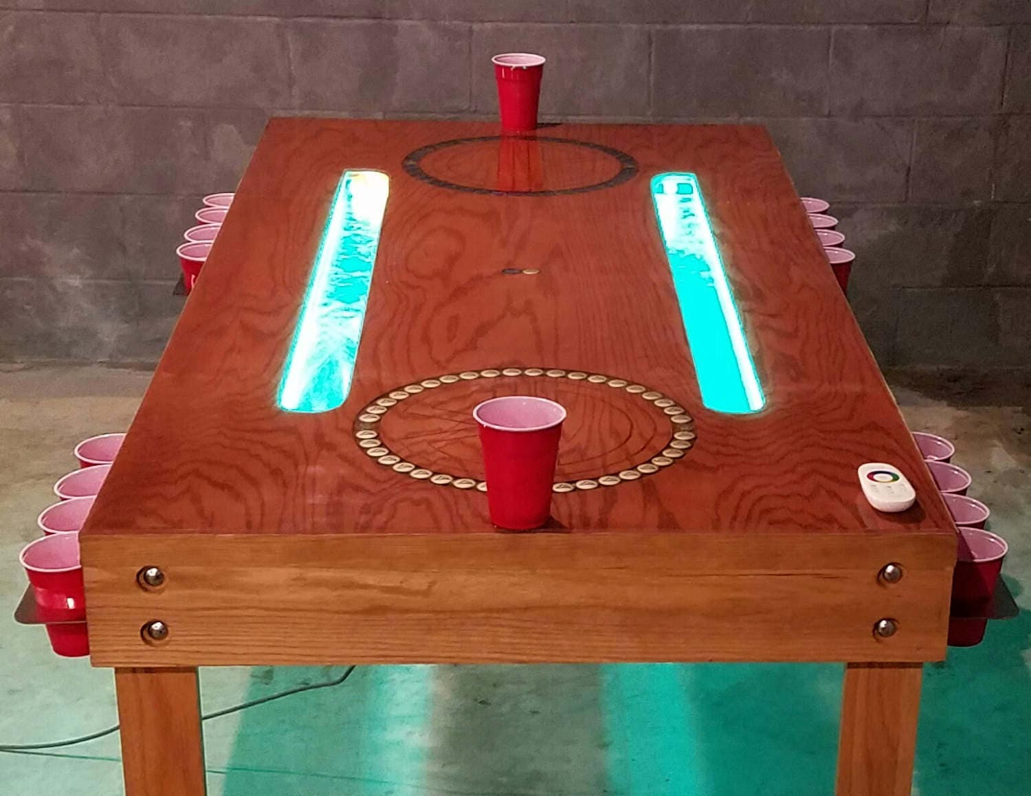Custom Beer Pong Table Furniture Drinking Game Gaming Table Game Table Fraternity Sorority Bar Party Man Cave Dining Room