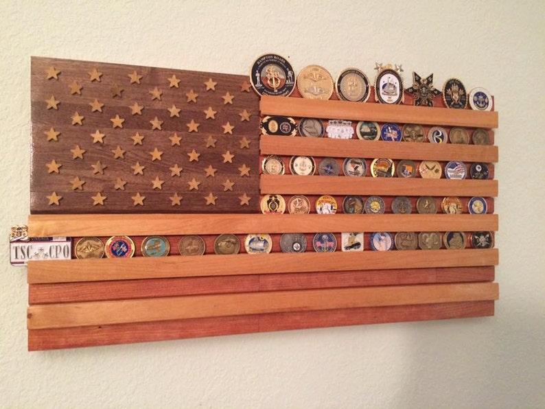challenge coin flag display