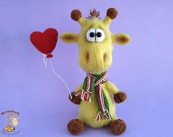 Crochet giraffe Mathers day giraffe gift crochet toys giraffe toy stuffed animal amigurumi giraffe