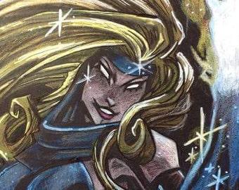 X-Men Dazzler - original drawing