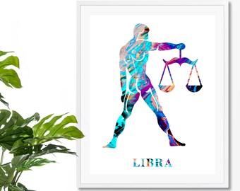 Libra #1 Watercolor  Astrology Art, Print, Libra  Sign , Libra Zodiac, Libra Wall Art,  Libra Poster, Gifts for  Libra