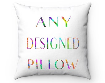 Any Designed Throw Pillow, Pillow Cover, Abstract Pillow, 18x18