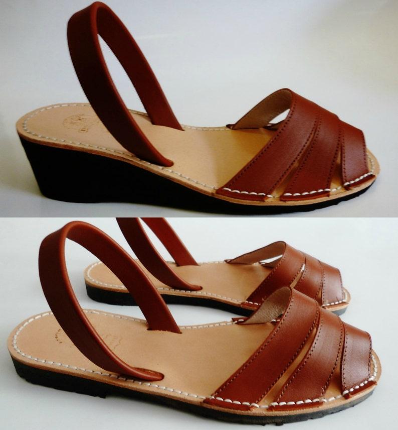 632ee8077 Avarcas Menorquínas Combi with heel wedge 5 cm or without